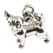 Chihuahua Dog 3D Sterling Silver Clip On Charm - With Clasp